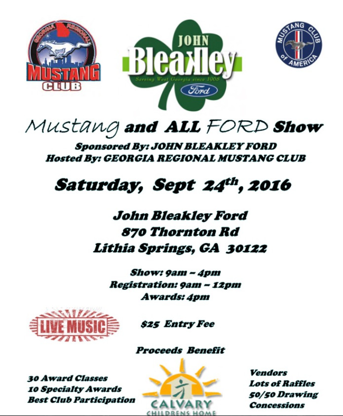 2016 John Bleakley Ford Car Show